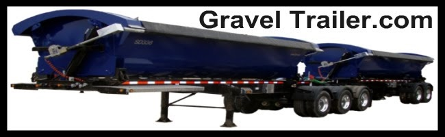 gravel trailer side dump train